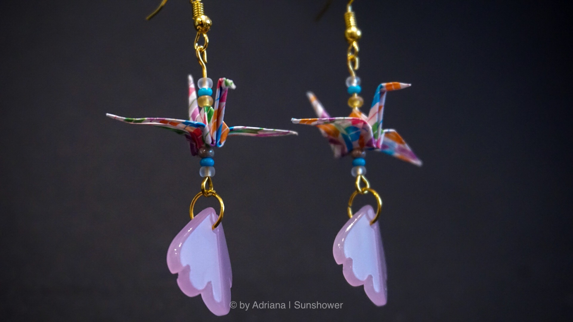 Colorful Crane Earrings